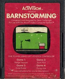 Cartridge artwork for Barnstorming on the Atari 2600.