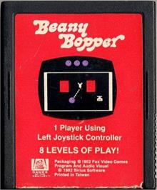 Cartridge artwork for Beany Bopper on the Atari 2600.
