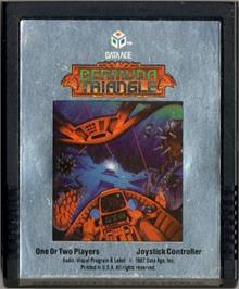 Cartridge artwork for Bermuda Triangle on the Atari 2600.