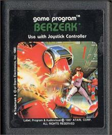 Cartridge artwork for Berzerk on the Atari 2600.