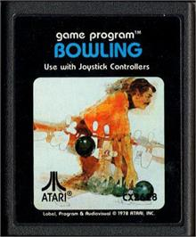 Cartridge artwork for Bowling on the Atari 2600.