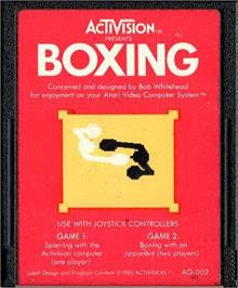 Cartridge artwork for Boxing on the Atari 2600.