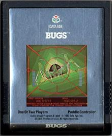 Cartridge artwork for Bugs on the Atari 2600.