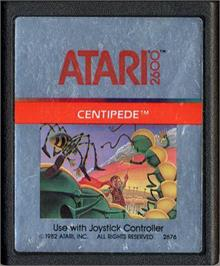 Cartridge artwork for Centipede on the Atari 2600.