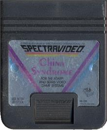 Cartridge artwork for China Syndrome on the Atari 2600.