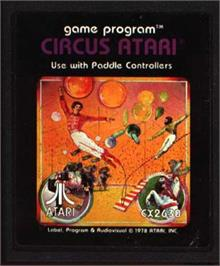 Cartridge artwork for Circus Atari on the Atari 2600.