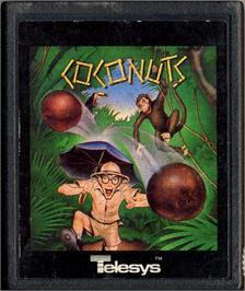 Cartridge artwork for Coco Nuts on the Atari 2600.