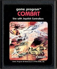 Cartridge artwork for Combat on the Atari 2600.