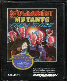 Cartridge artwork for Communist Mutants from Space on the Atari 2600.