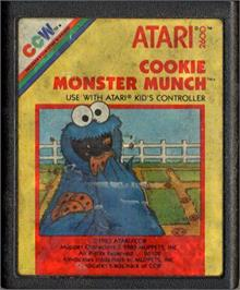 Cartridge artwork for Cookie Monster Munch on the Atari 2600.