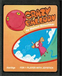 Cartridge artwork for Crazy Balloon on the Atari 2600.