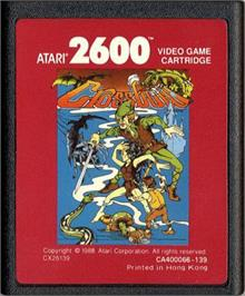 Cartridge artwork for Crossbow on the Atari 2600.