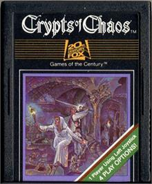 Cartridge artwork for Crypts of Chaos on the Atari 2600.