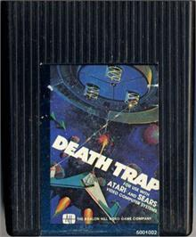 Cartridge artwork for Death Trap on the Atari 2600.