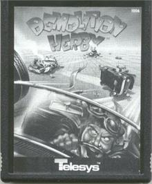 Cartridge artwork for Demolition Herby on the Atari 2600.
