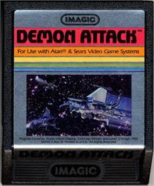 Cartridge artwork for Demon Attack on the Atari 2600.