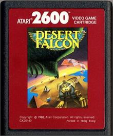 Cartridge artwork for Desert Falcon on the Atari 2600.