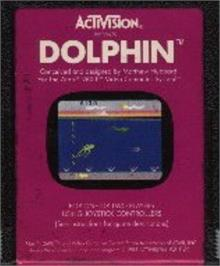 Cartridge artwork for Dolphin on the Atari 2600.