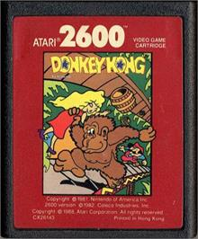 Cartridge artwork for Donkey Kong on the Atari 2600.