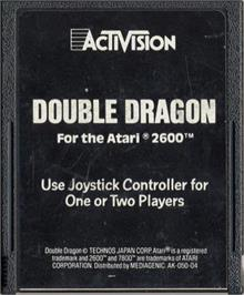 Cartridge artwork for Double Dragon on the Atari 2600.