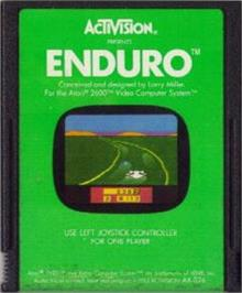 Cartridge artwork for Enduro on the Atari 2600.
