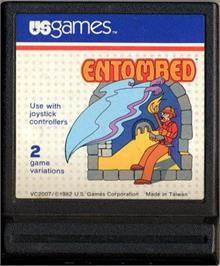 Cartridge artwork for Entombed on the Atari 2600.