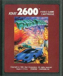 Cartridge artwork for Fatal Run on the Atari 2600.