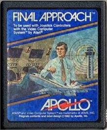 Cartridge artwork for Final Approach on the Atari 2600.
