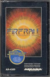 Cartridge artwork for Fireball on the Atari 2600.