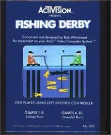 Cartridge artwork for Fishing Derby on the Atari 2600.