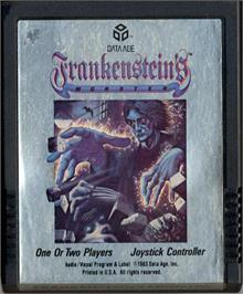 Cartridge artwork for Frankenstein's Monster on the Atari 2600.