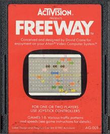 Cartridge artwork for Freeway on the Atari 2600.