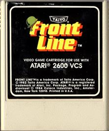 Cartridge artwork for Front Line on the Atari 2600.