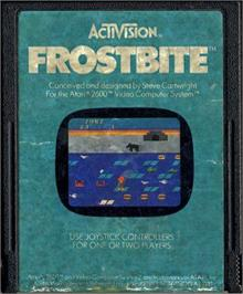 Cartridge artwork for Frostbite on the Atari 2600.