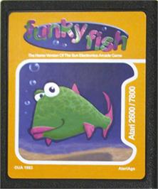 Cartridge artwork for Funky Fish on the Atari 2600.