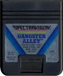 Cartridge artwork for Gangster Alley on the Atari 2600.