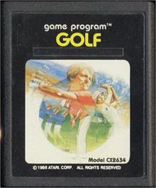 Cartridge artwork for Golf on the Atari 2600.