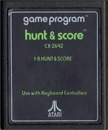 Cartridge artwork for Hunt & Score on the Atari 2600.