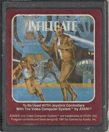 Cartridge artwork for Infiltrate on the Atari 2600.