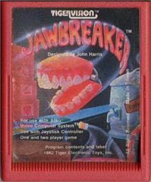 Cartridge artwork for JawBreaker on the Atari 2600.
