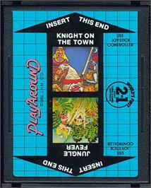 Cartridge artwork for Jungle Fever/Knight on the Town on the Atari 2600.
