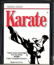 Cartridge artwork for Karate on the Atari 2600.