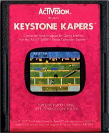 Cartridge artwork for Keystone Kapers on the Atari 2600.