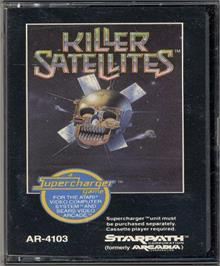 Cartridge artwork for Killer Satellites on the Atari 2600.