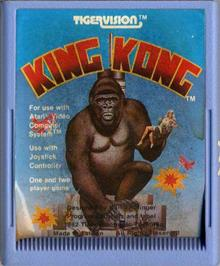 Cartridge artwork for King Kong on the Atari 2600.