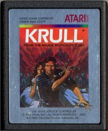 Cartridge artwork for Krull on the Atari 2600.
