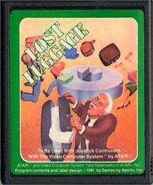 Cartridge artwork for Lost Luggage on the Atari 2600.