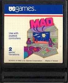 Cartridge artwork for M.A.D. on the Atari 2600.