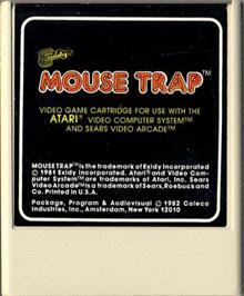 Cartridge artwork for Mouse Trap on the Atari 2600.