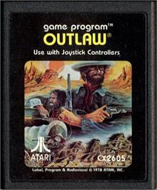 Cartridge artwork for Outlaw on the Atari 2600.